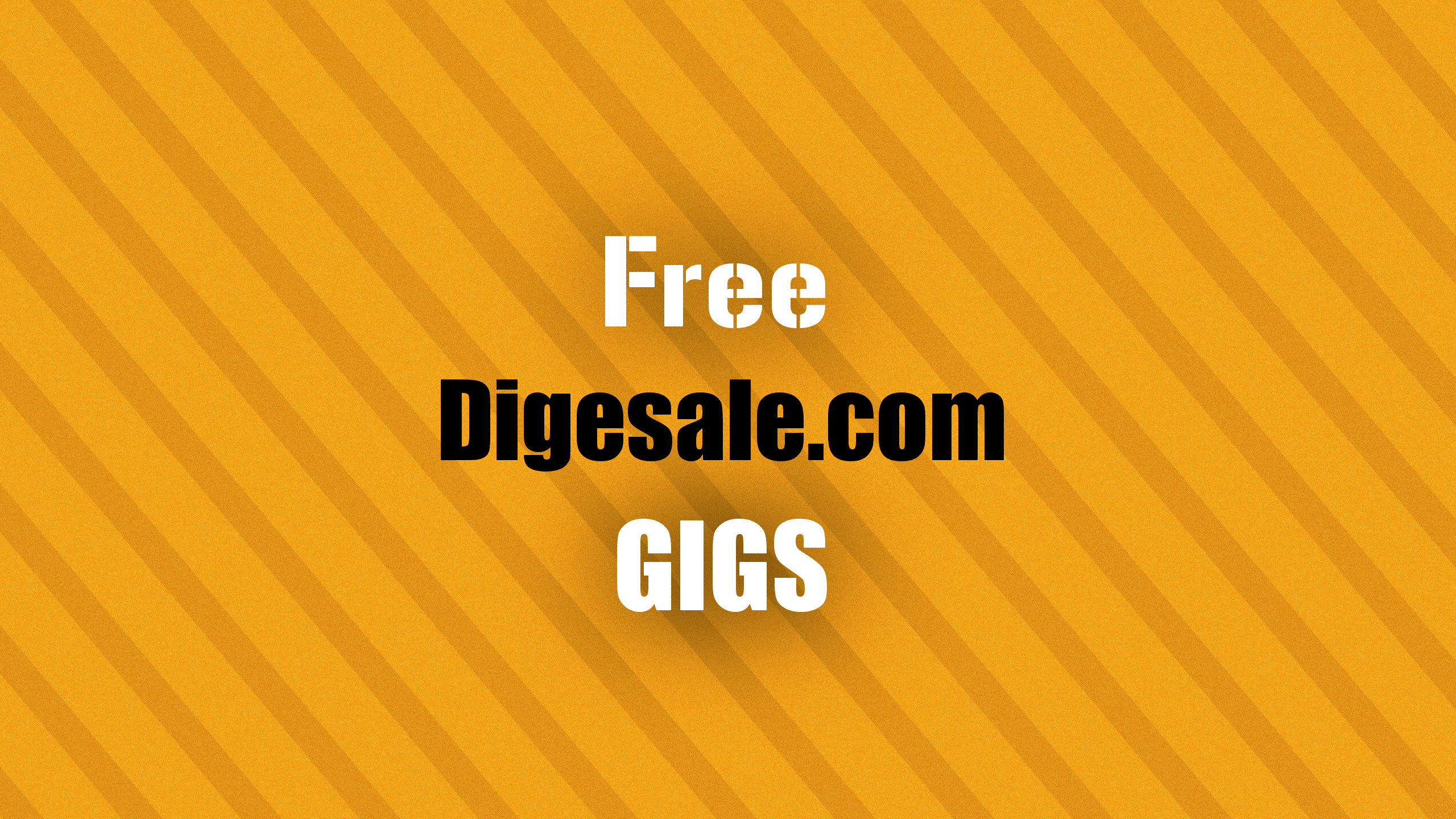 Free Bonus Offers on Digesale Orange Background Photo