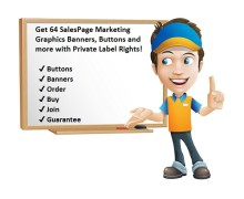 Get 64 SalesPage Marketing Graphics Banners, Buttons and more with Private Label Rights
