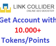 Give you new or refill LinkCollider account with over 10.000 Tokens-Points