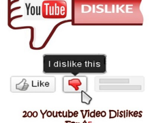 I will send over 200 Dislikes and 5 Reports to Youtube Videos