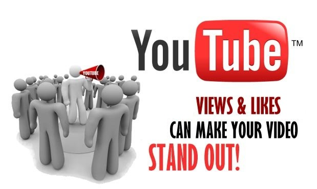 Youtube people crowd! Views & Likes can make your Videos stand out!