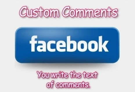 Get 10 Facebook Custom Comments for Status Post Photo Video