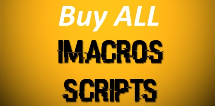 Buy ALL my iMacros – Discounted –