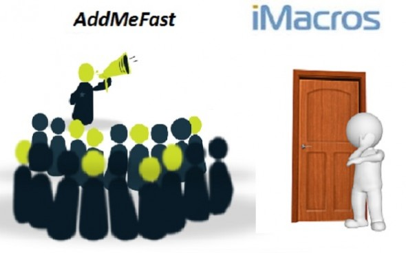 I will give you AddMeFast iMacro scripts bots to gather